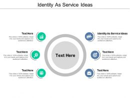 Identity As Service Ideas Ppt Powerpoint Presentation Inspiration Outfit Cpb
