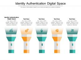 Identity Authentication Digital Space Ppt Powerpoint Presentation Show Designs Cpb