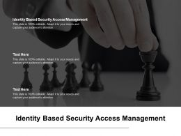 Identity Based Security Access Management Ppt Powerpoint Presentation Portfolio Format Cpb