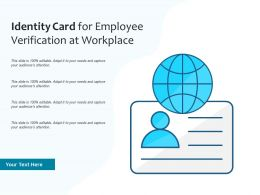 Identity Card For Employee Verification At Workplace