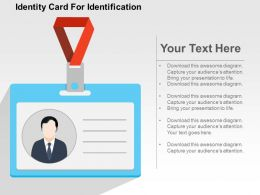 Identity Card For Identification Flat Powerpoint Design