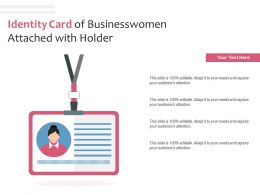 Identity Card Of Businesswomen Attached With Holder