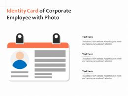 Identity Card Of Corporate Employee With Photo
