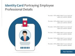 Identity Card Portraying Employee Professional Details
