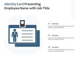 Identity Card Presenting Employee Name With Job Title