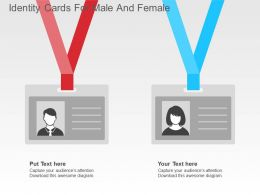 Identity Cards For Male And Female Flat Powerpoint Design