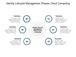 Identity Lifecycle Management Phases Cloud Computing Ppt Powerpoint Presentation Inspiration Icon Cpb