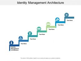 Identity Management Architecture Ppt Powerpoint Presentation Inspiration Sample Cpb