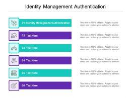 Identity Management Authentication Ppt Powerpoint Presentation Model Layout Cpb