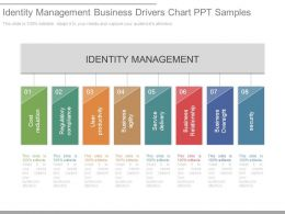 Identity Management Business Drivers Chart Ppt Samples