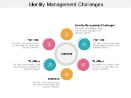 Identity Management Challenges Ppt Powerpoint Presentation Professional Master Slide Cpb