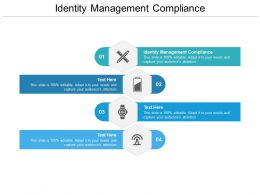 Identity Management Compliance Ppt Powerpoint Presentation Inspiration Guidelines Cpb