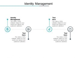 Identity Management Ppt Powerpoint Presentation Ideas Background Images Cpb