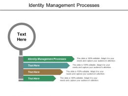 Identity Management Processes Ppt Powerpoint Presentation File Show Cpb