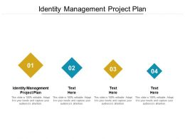 Identity Management Project Plan Ppt Powerpoint Presentation Show Vector Cpb