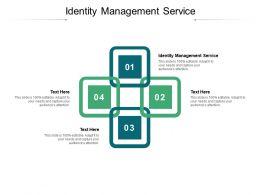 Identity Management Service Ppt Powerpoint Presentation Slides Images Cpb