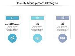Identity Management Strategies Ppt Powerpoint Presentation Summary Ideas Cpb