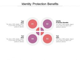 Identity Protection Benefits Ppt Powerpoint Presentation Pictures Ideas Cpb