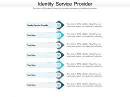 Identity Service Provider Ppt Powerpoint Presentation Ideas Topics Cpb