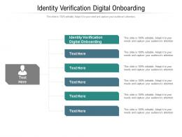 Identity Verification Digital Onboarding Ppt Powerpoint Presentation Portfolio Clipart Cpb