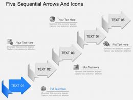 ie Five Sequential Arrows And Icons Powerpoint Template