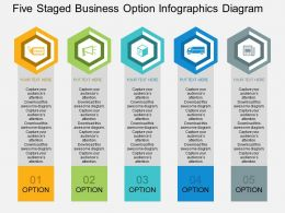 ie Five Staged Business Option Infographics Diagram Flat Powerpoint Design