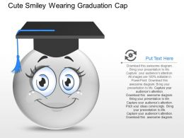 if Cute Smiley Wearing Graduation Cap Powerpoint Template
