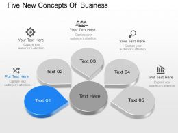 If Five New Concepts For Business Diagram Powerpoint Template