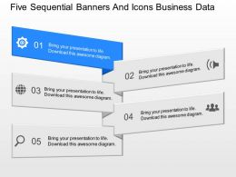 if Five Sequential Banners And Icons Business Data Powerpoint Template