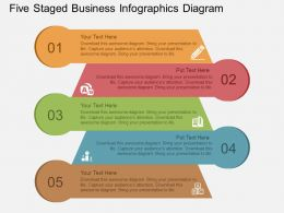 if Five Staged Business Infographics Diagram Flat Powerpoint Design