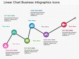 if Linear Chart Business Infographics Icons Flat Powerpoint Design