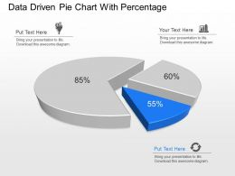 ig Data Driven Pie Chart With Percentage Powerpoint Template