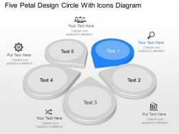 Ig Five Petal Design Circle With Icons Diagram Powerpoint Template