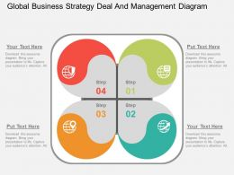 Ig Global Business Strategy Deal And Management Diagram Flat Powerpoint Design