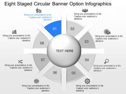 ii Eight Staged Circular Banner Option Infographics Powerpoint Template