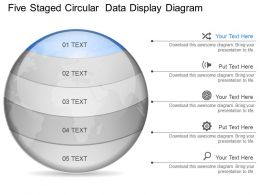 ii Five Staged Circular Data Display Diagram Powerpoint Template