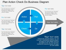 ij Plan Action Check Do Business Diagram Flat Powerpoint Design
