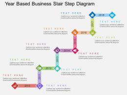 ij_year_based_business_stair_step_diagram_flat_powerpoint_design_Slide01