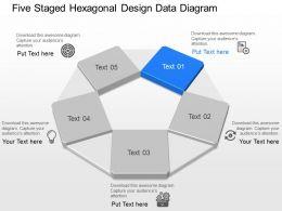 ik Five Staged Hexagonal Design Data Diagram Powerpoint Template