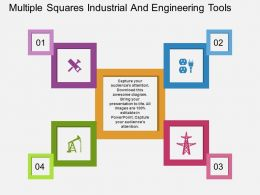 Ik Multiple Squares Industrial And Engineering Tools Flat Powerpoint Design