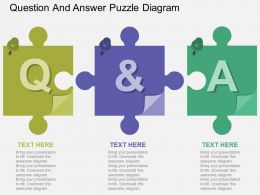 ik Question And Answer Puzzle Diagram Flat Powerpoint Design