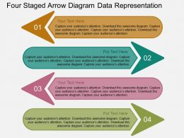 il Four Staged Arrow Diagram Data Representation Flat Powerpoint Design