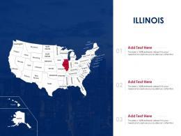 Illinois Map Powerpoint Presentation PPT Template