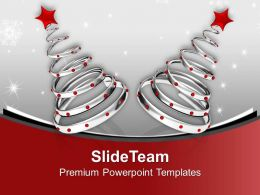 Illsutration Of Glossy Christmas Tree Holidays PowerPoint Templates PPT Themes And Graphics