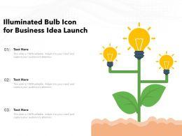 Illuminated Bulb Icon For Business Idea Launch