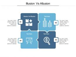 Illusion Vs Allusion Ppt Powerpoint Presentation Infographic Template Objects Cpb