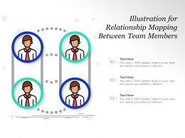 Illustration For Relationship Mapping Between Team Members