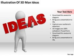 Illustration Of 3D Man Ideas Ppt Graphics Icons Powerpoint