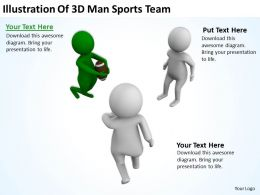 Illustration Of 3d Man Sports Team Ppt Graphics Icons Powerpoint