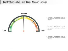 Illustration Of A Low Risk Meter Gauge